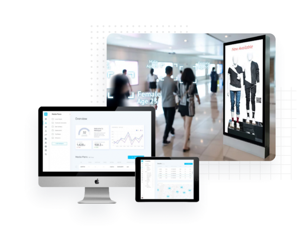 digital signage solution with face recognition