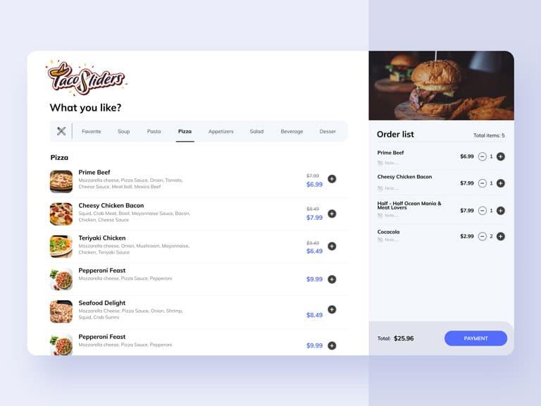 restaurant ordering app free GIGASOURCE